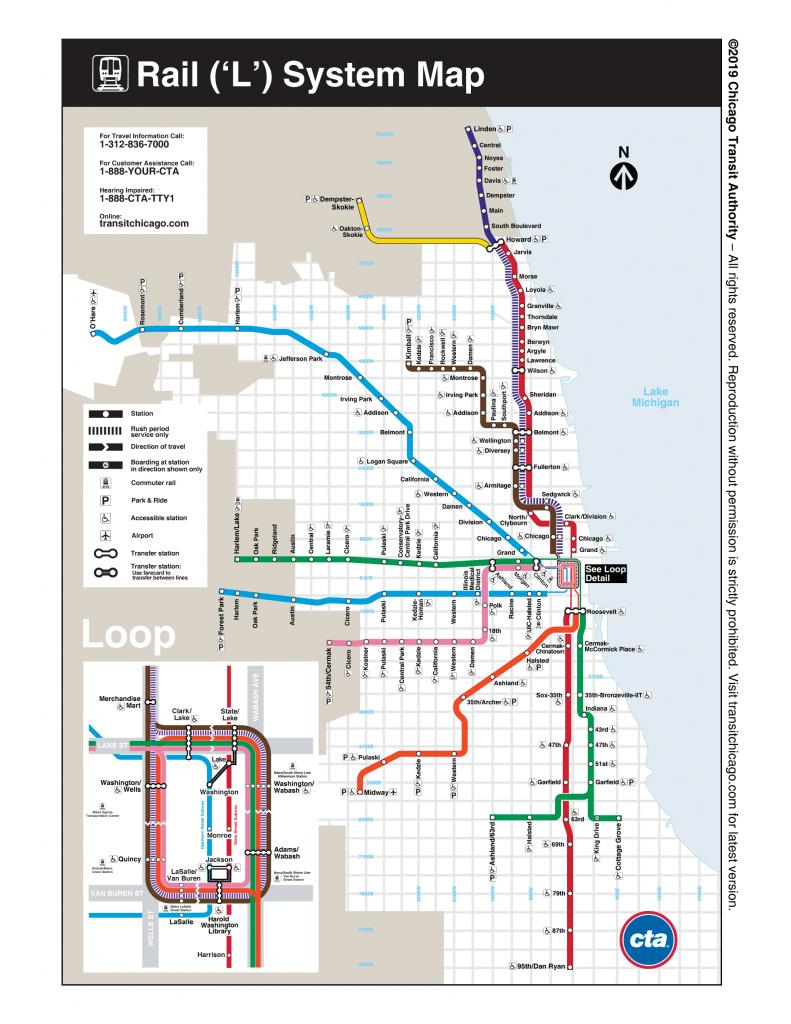 Maps - Cta - Chicago Loop Map Printable