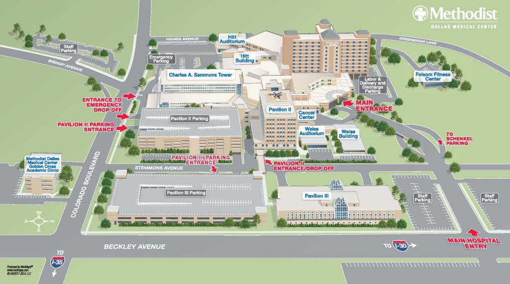 Maps & Directions | Methodist Health System - Baylor Hospital Dallas Texas Map