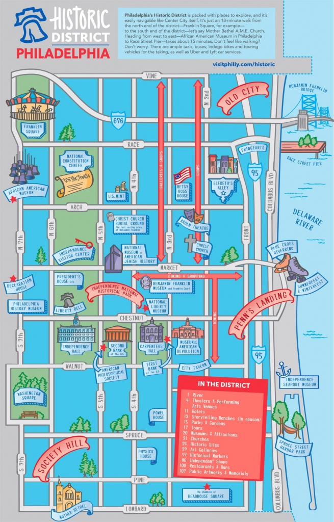 Maps & Directions - Printable Map Of Philadelphia Attractions