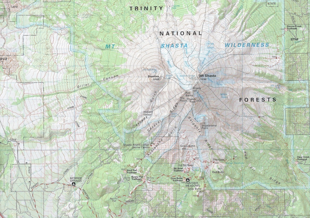 Maps | Hike Mt. Shasta - Mount Shasta California Map