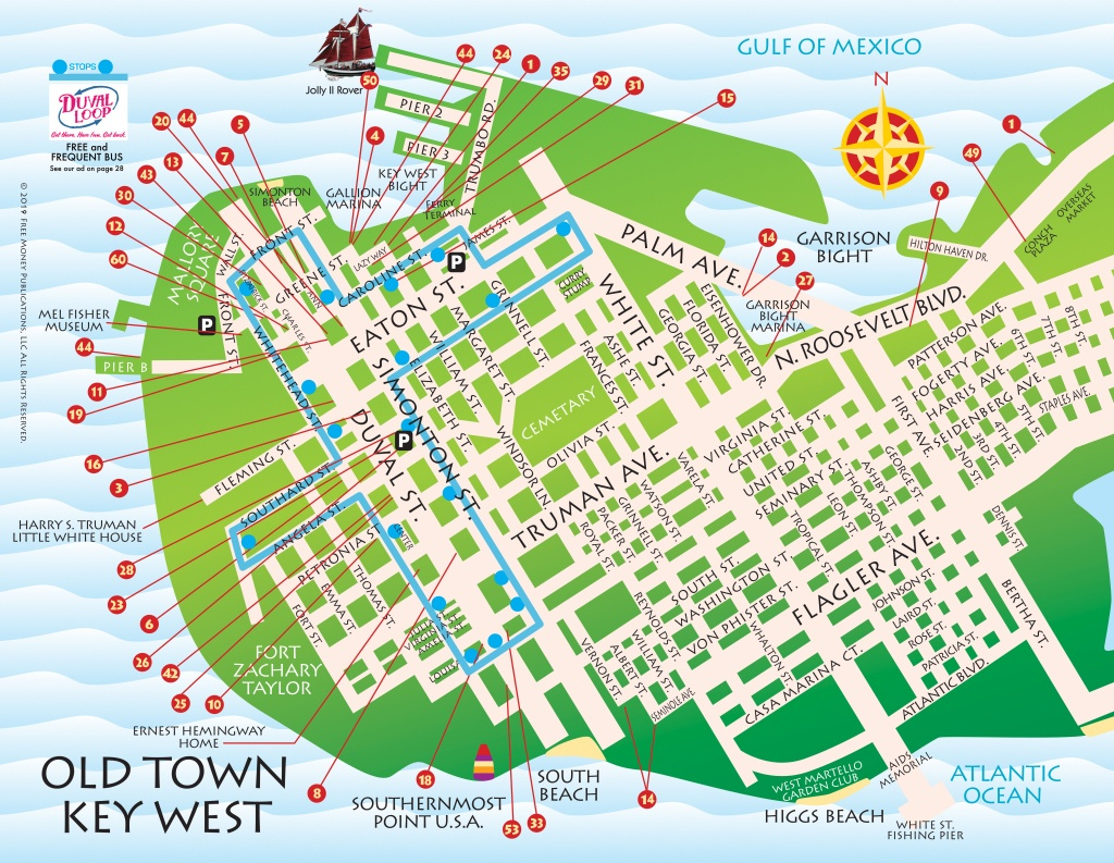 Maps, Key West / Florida Keys | Key West / Florida Keys Money Saving - Key West Florida Map Of Hotels