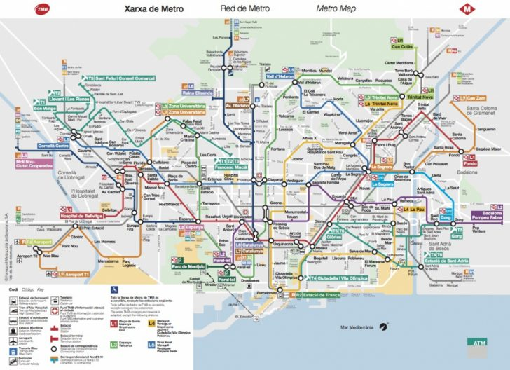Metro Map Barcelona Printable