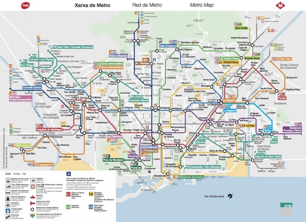 Maps Mapa Del Metro De Barcelona | Sverigekarta - Metro Map Barcelona Printable