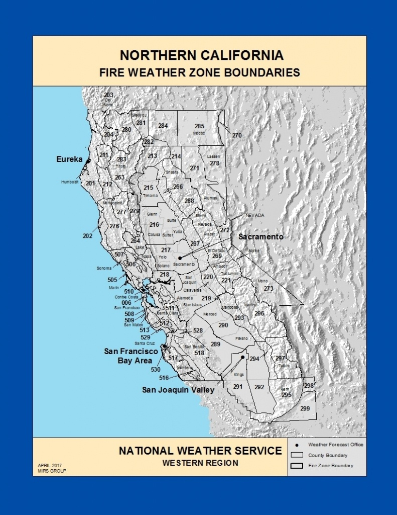 Maps Northern California Fire Weather Zone Boundaries New Map Inside - California Fire Zone Map