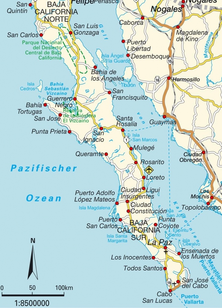 Maps Of Baja California Mexico | California Map 2018 In Map Of Baja - Map Of Baja California Mexico