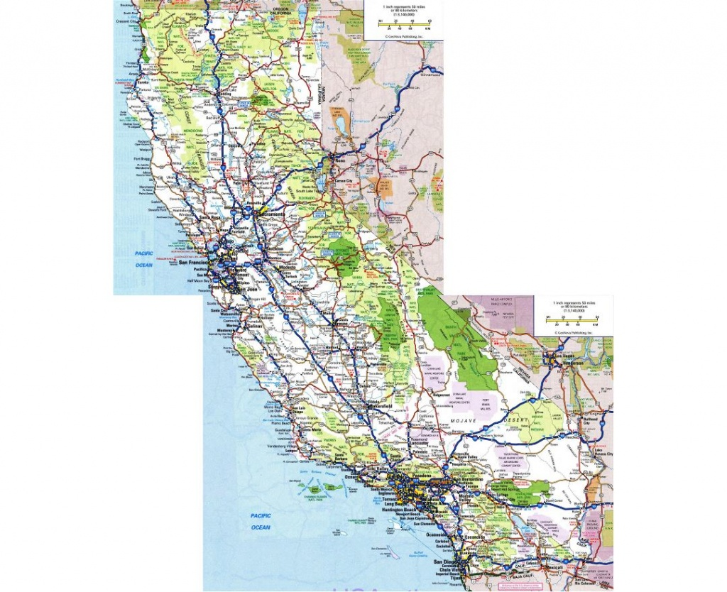 Maps Of California | Collection Of Maps Of California State | Usa - Southern California State Parks Map