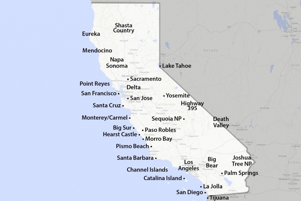 Maps Of California - Created For Visitors And Travelers - California Missions Map For Kids