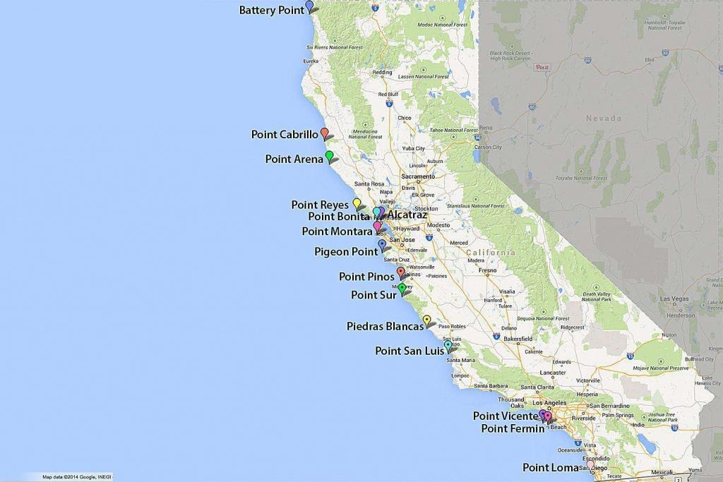Maps Of California - Created For Visitors And Travelers - Google Maps California Coast