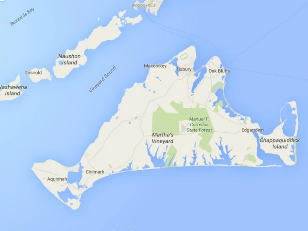Maps Of Cape Cod, Martha's Vineyard, And Nantucket - Martha's Vineyard Map Printable