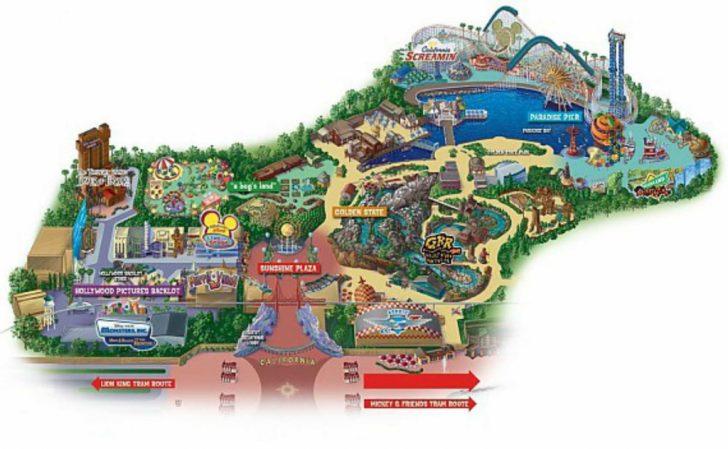 Disney California Map