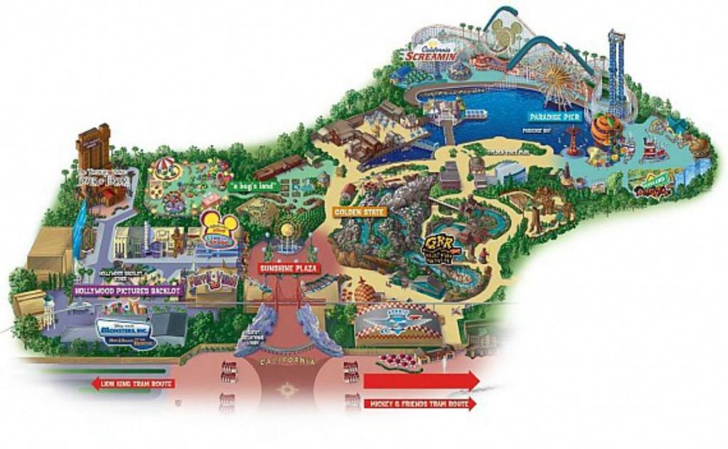 Maps Of Disneyland Resort In Anaheim, California - Southern California Amusement Parks Map
