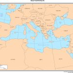 Maps Of Europe   Printable Map Of The Mediterranean Sea Area