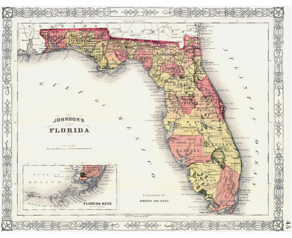 Maps Of Florida | Collection Of Maps Of Florida State | Usa | Maps - Old Florida Road Maps