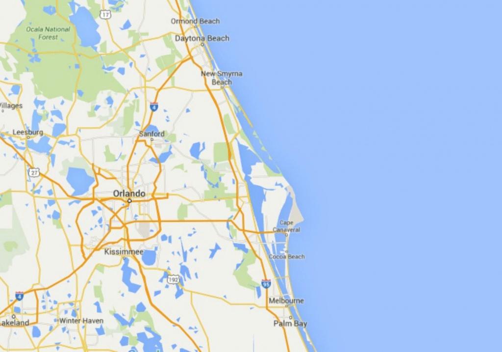 Maps Of Florida: Orlando, Tampa, Miami, Keys, And More - Map Of Florida Beaches Near Orlando