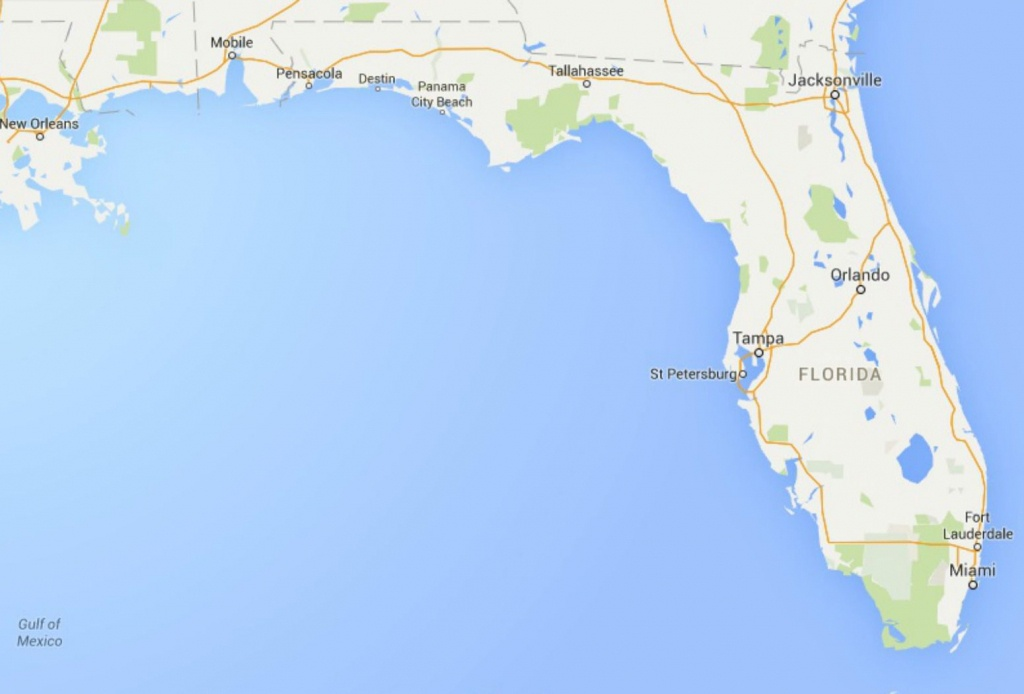 Maps Of Florida: Orlando, Tampa, Miami, Keys, And More - Map Of Florida Panhandle Beaches