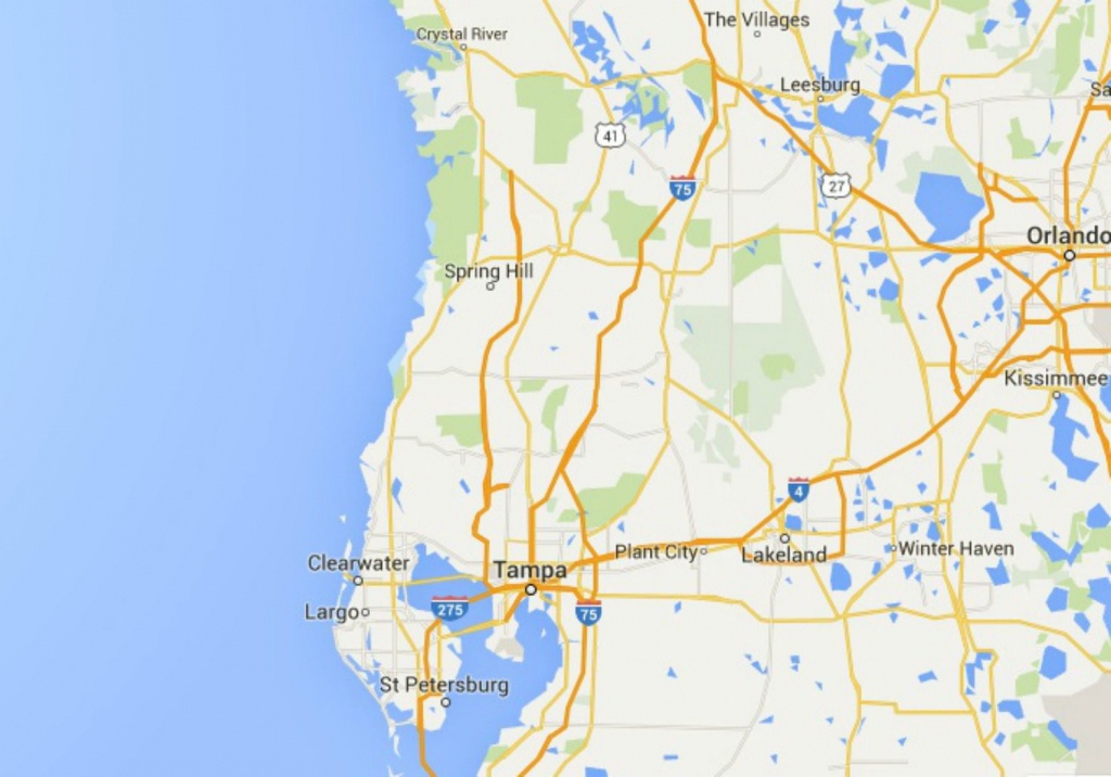 Maps Of Florida: Orlando, Tampa, Miami, Keys, And More - Map Of Florida Showing Tampa And Clearwater