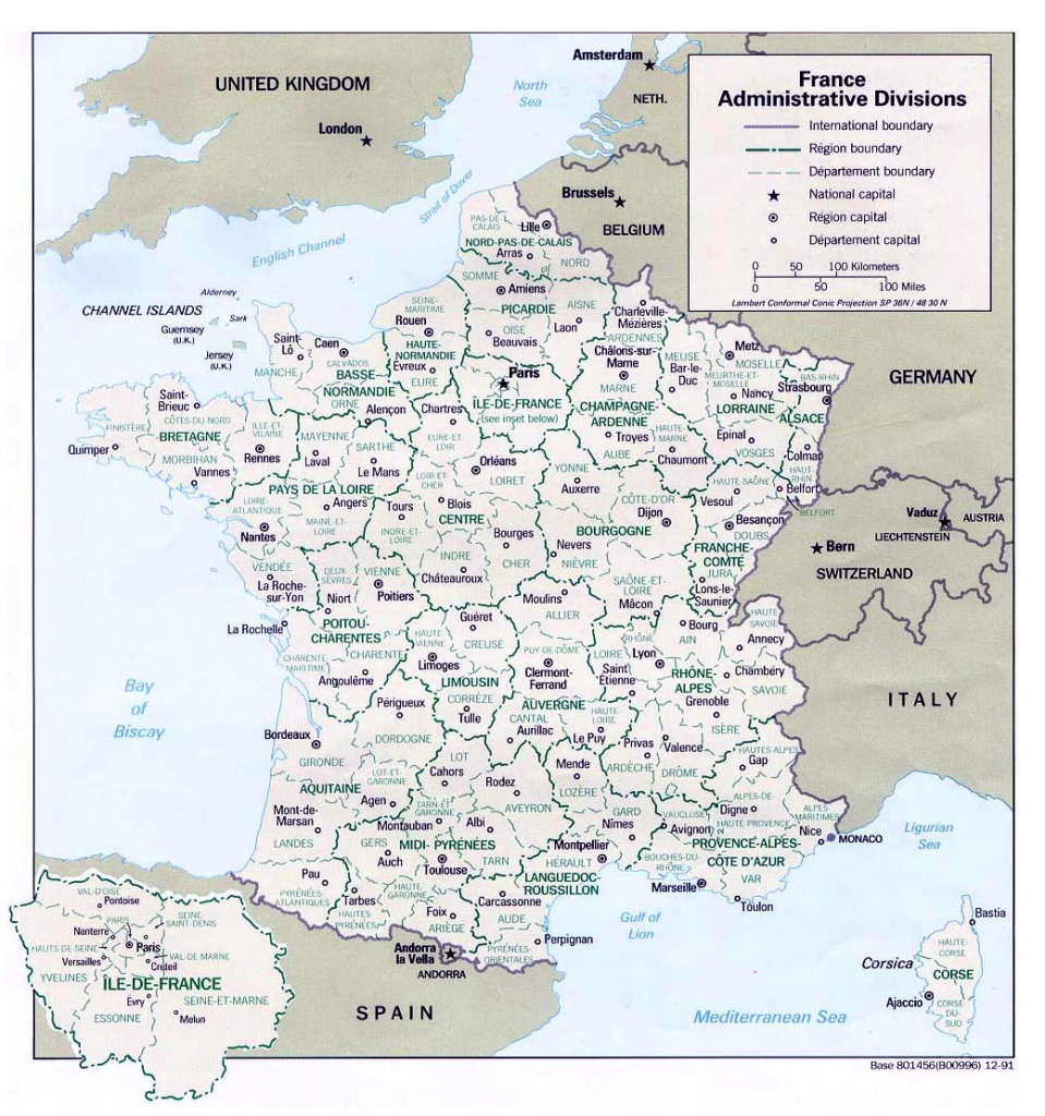 Maps Of France   Detailed Map Of France In English   Tourist Map Of - Printable Map Of France With Cities