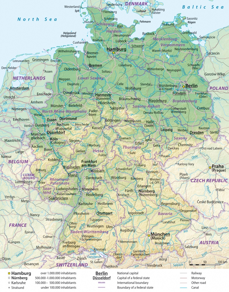 Maps Of Germany | Detailed Map Of Germany In English | Tourist Map - Free Printable Map Of Germany
