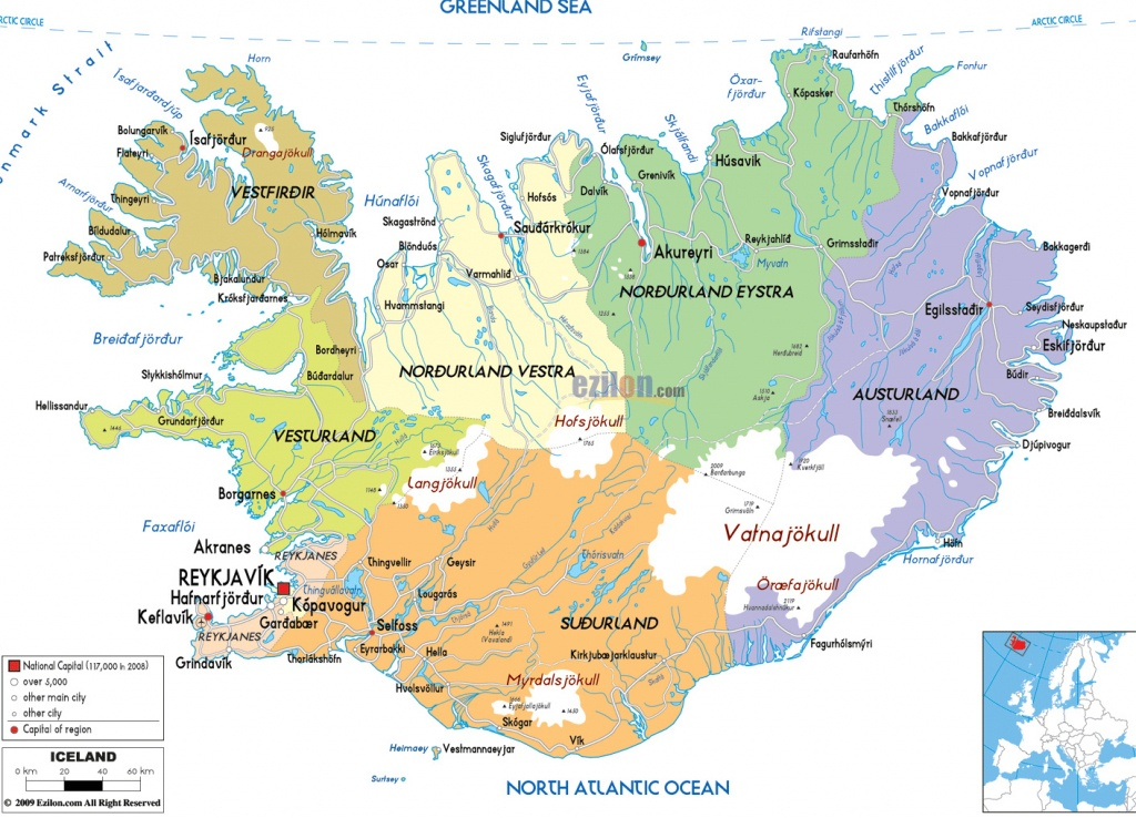 Maps Of Iceland | Detailed Map Of Iceland In English |Tourist Map Of - Printable Road Map Of Iceland