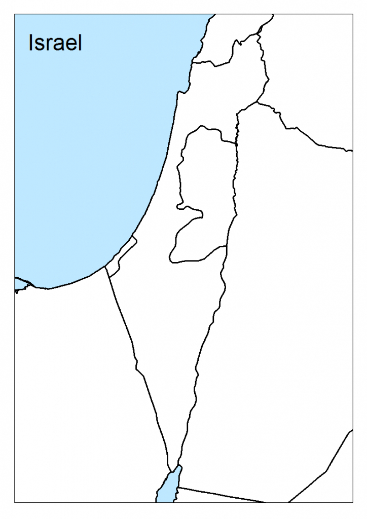 Maps Of Israel - Geolounge: All Things Geography - Israel Outline Map Printable