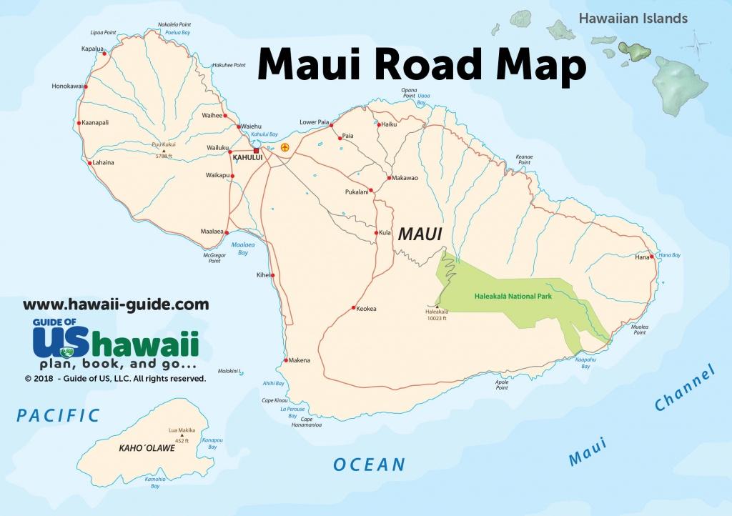 Maps Of Maui Hawaii - Printable Road Map Of Kauai