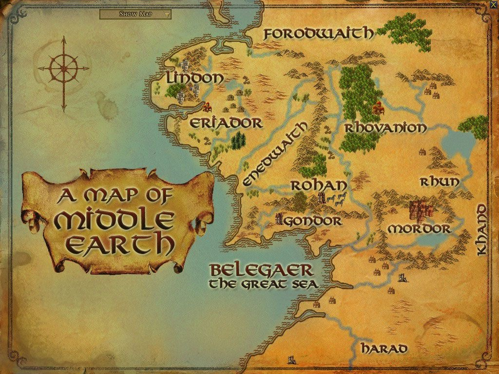 Maps Of Middle Earth | Middle Earth Printable Map | Paper Projects - Printable Hobbit Map