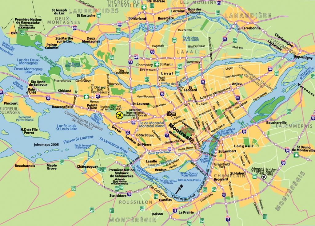Maps Of Montreal - Johomaps - Printable Map Of Montreal