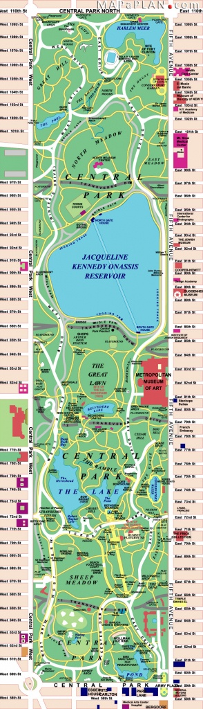 Maps Of New York Top Tourist Attractions - Free, Printable - Printable Map Of Central Park New York