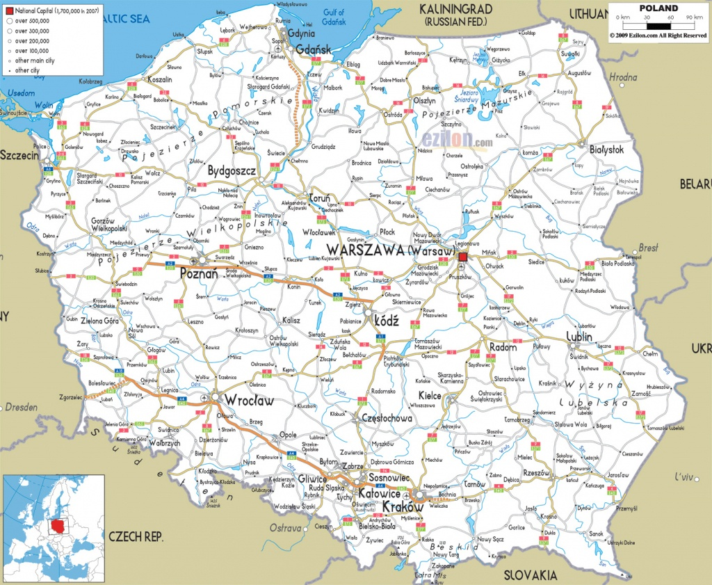 Maps Of Poland | Detailed Map Of Poland In English | Tourist Map Of - Printable Map Of Poland