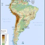 Maps Of South America   South America Physical Map Printable