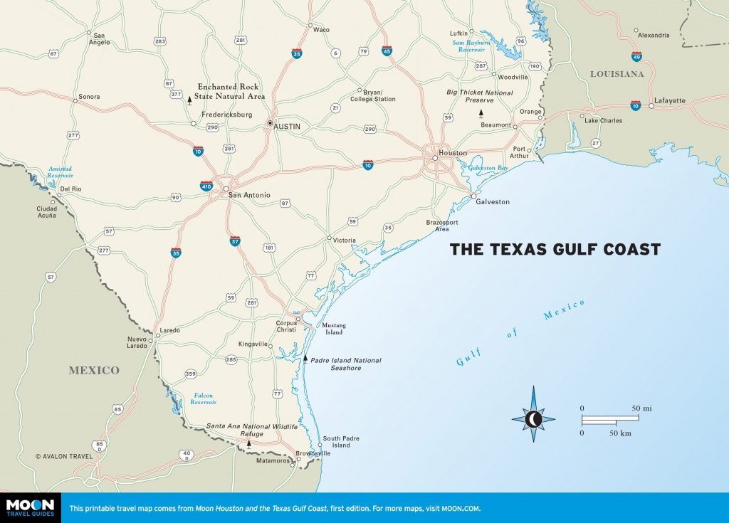 Maps Of Texas Gulf Coast And Travel Information | Download Free Maps - Map Of Texas Coastline