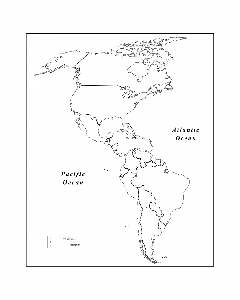 Maps Of The Americas Page 2 Within Blank Map Of The Americas - Hemisphere Maps Printable