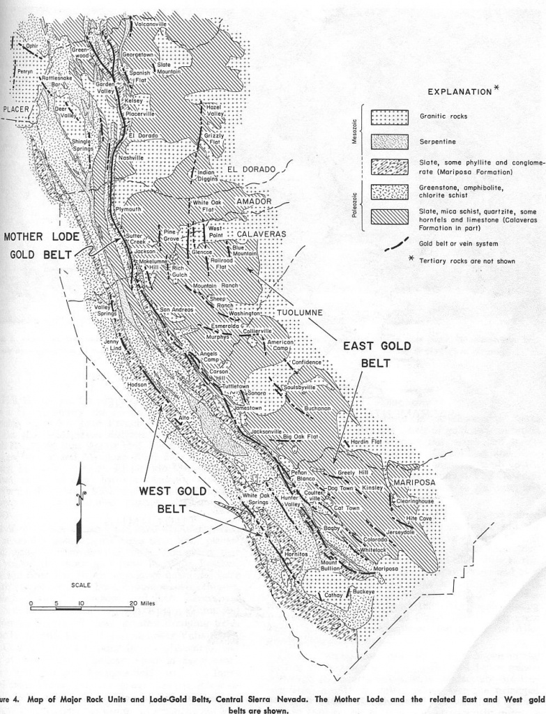 Maps Of The Mother Lode Area Within California:   Resources   Mother - California Gold Prospecting Map