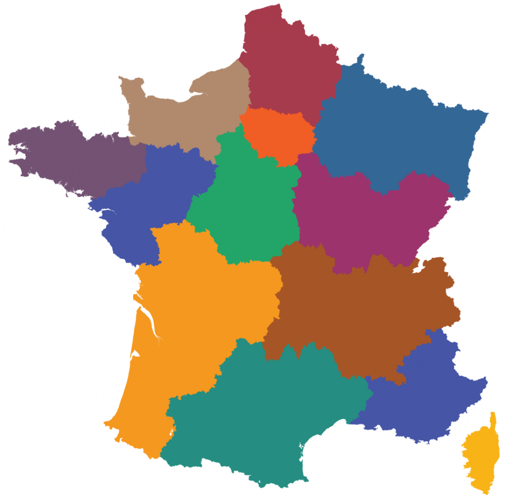 Maps Of The Regions Of France - Printable Map Of France Regions