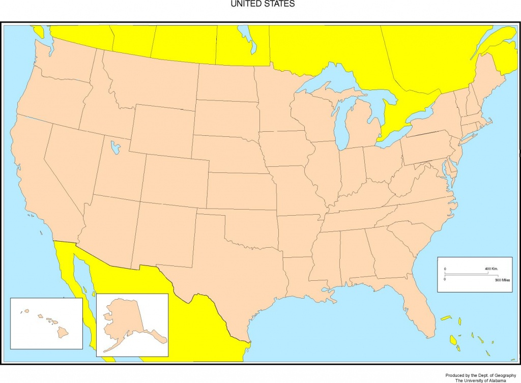 Maps Of The United States - Free Printable Us Map With Cities
