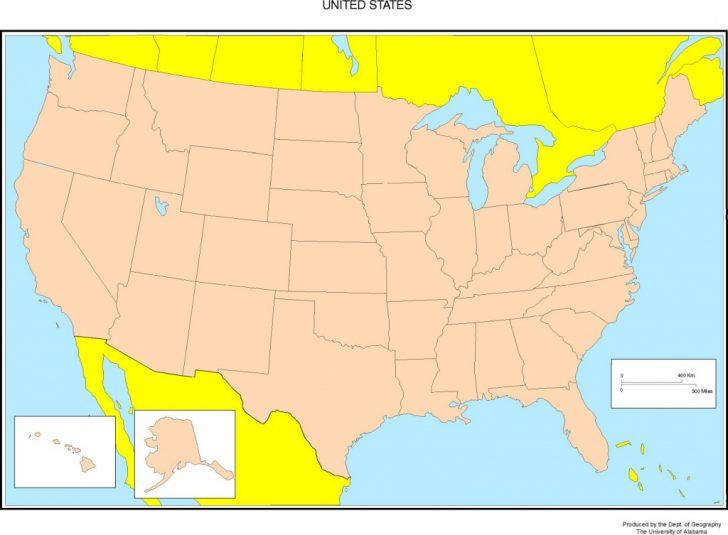 Printable Map Of Usa States And Cities