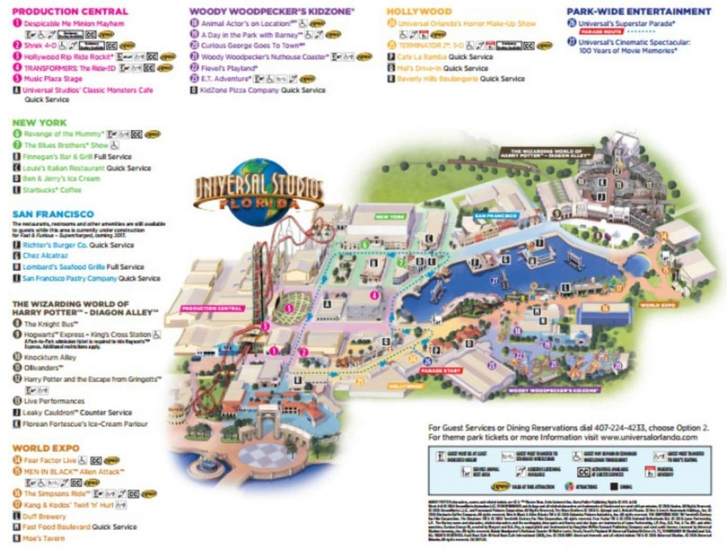Maps Of Universal Orlando Resort's Parks And Hotels - Map Of Universal Studios Florida Hotels