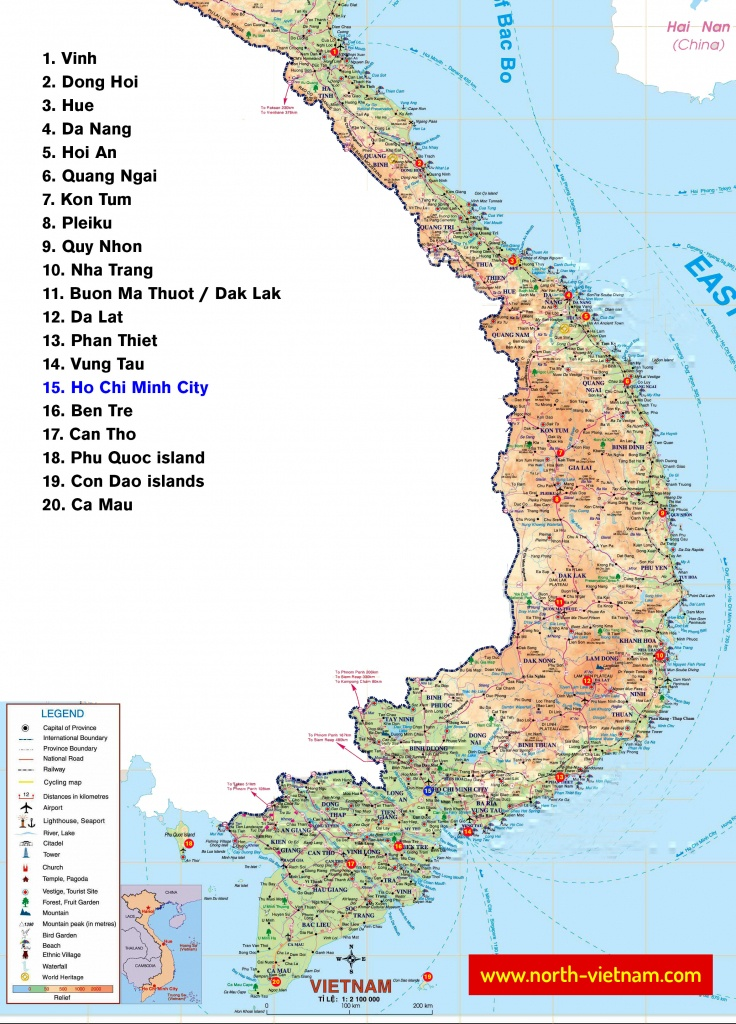 Maps Of Vietnam → North, South, Railway, Airport | Northern Vietnam - Printable Map Of Vietnam