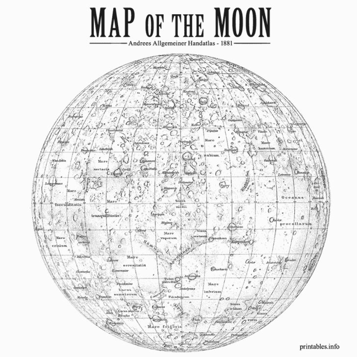 Printable Moon Map
