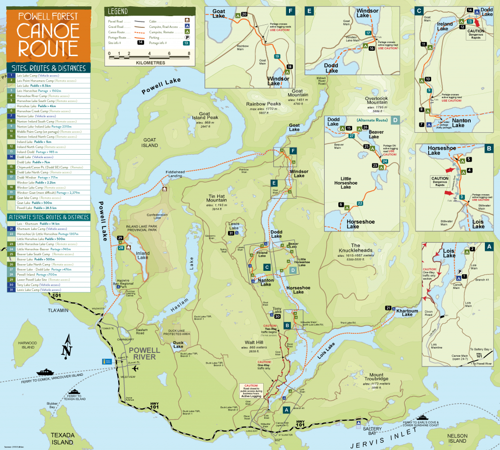 Maps | Plan Your Trip | Sunshine Coast Tourism - Official Site - Printable Map Of Bc