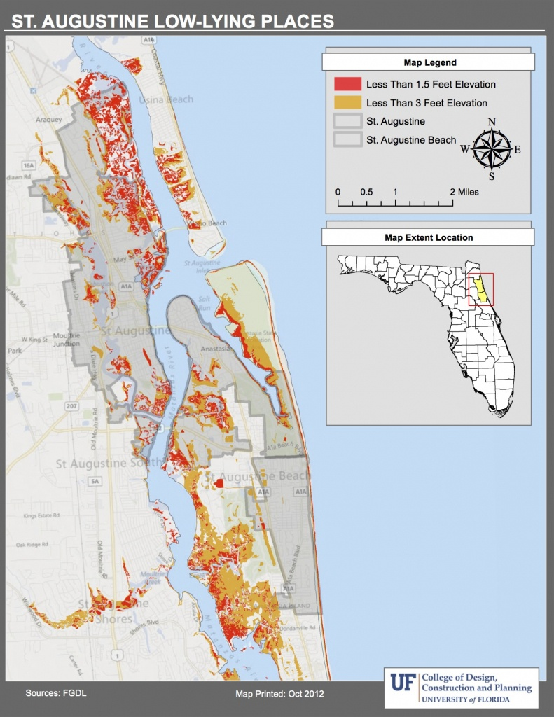 Maps   Planning For Sea Level Rise In The Matanzas Basin - Florida Elevation Map By Address