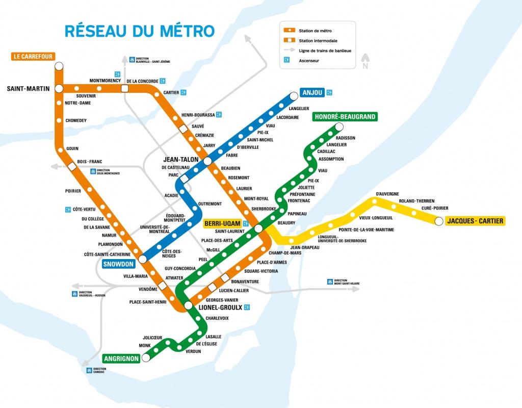 Maps – Sayfa 35 – Mapofmap1 - Montreal Metro Map Printable