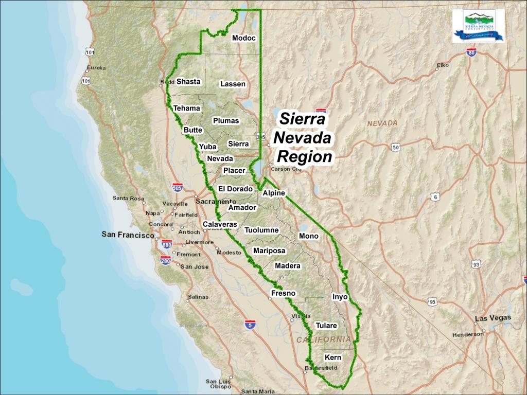 Maps | Sierranevada - Sierra California Map