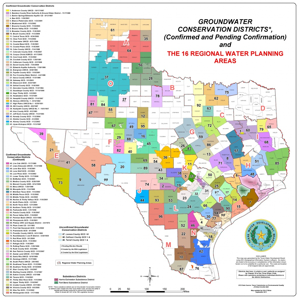 Maps - Texas Water Well Location Map
