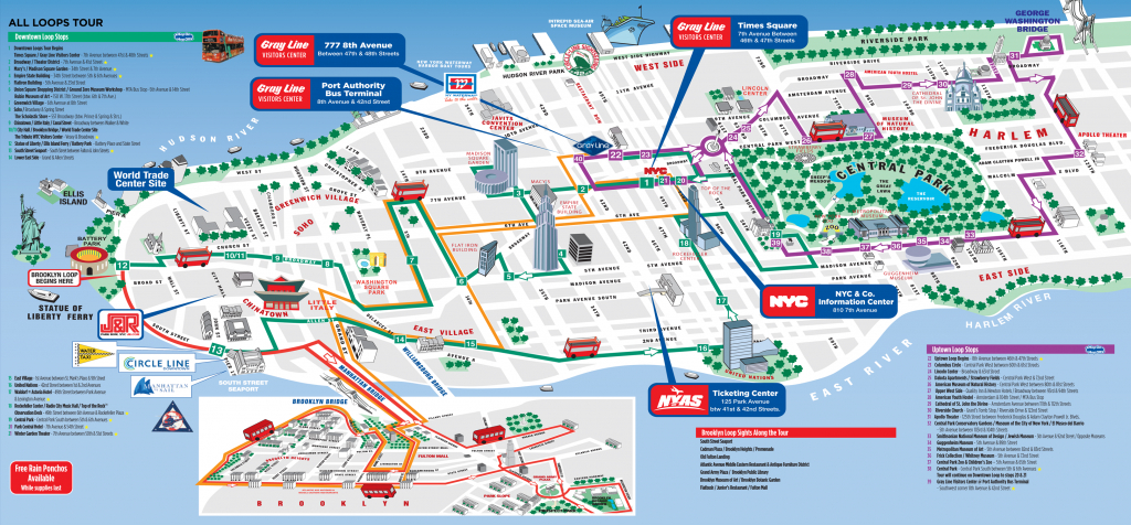 Maps Update #30001102: Tourist Map Of New York City – Map Of Nyc - Printable Map Of Manhattan Tourist Attractions