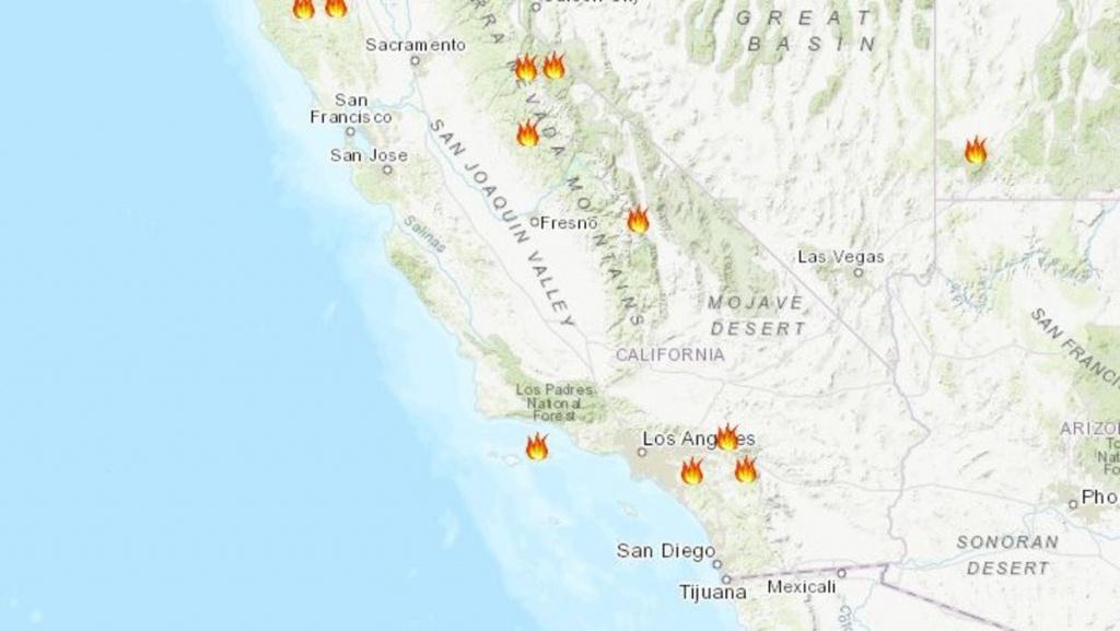 Maps: Wildfire Burn Areas Threatenedstorms In California - Nbc - California Fires Update Map