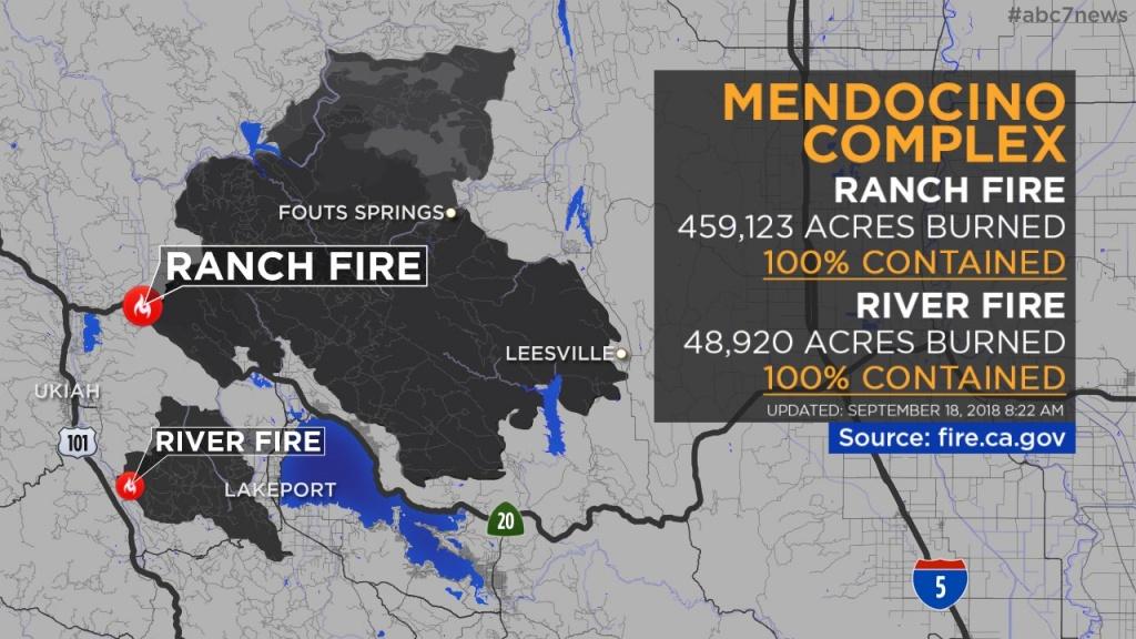 Maps: Wildfires Burning Across California   Abc7News - California Fire Damage Map