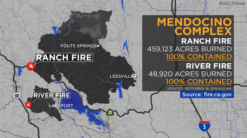 Maps: Wildfires Burning Across California | Abc7News - Fire Watch California Map
