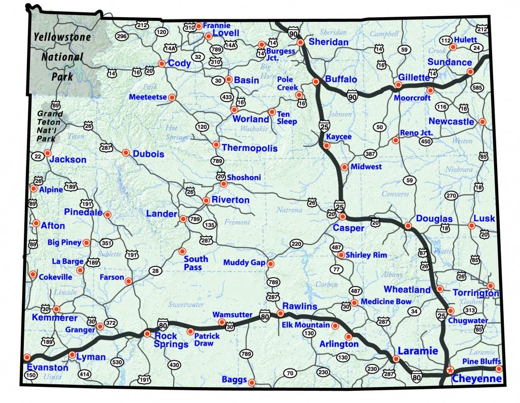 Maps - Wyoming State Map Printable