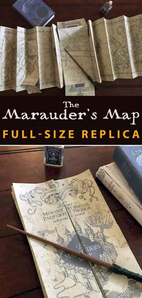 Marauder's Map Full Size Replica | Hp | Harry Potter Bedroom, Harry - Marauder's Map Replica Printable